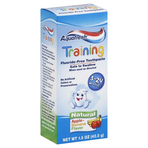 Toothpaste Healthy Care Australia Banana Flavour aquafresh toothpaste fluoride free apple banana