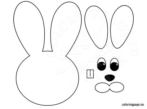 Easter Bunny Craft Template free coloring pages