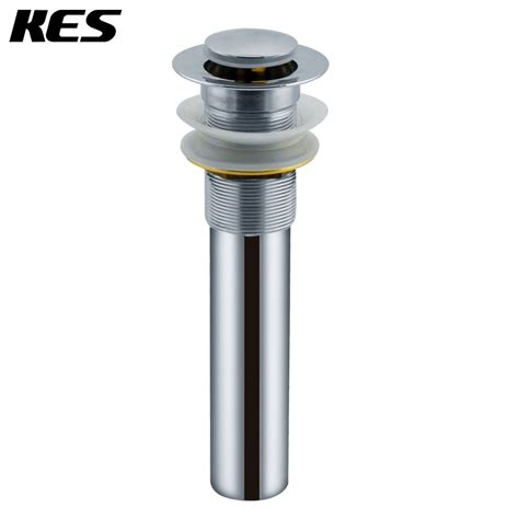 bathroom sink drain without overflow kes s2006 bathroom vanity sink drain pop up stopper with