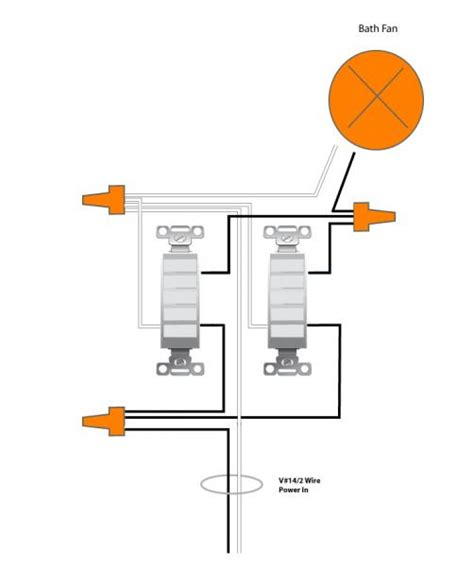 changing 2 bath exhaust fans to 1 inline electrical