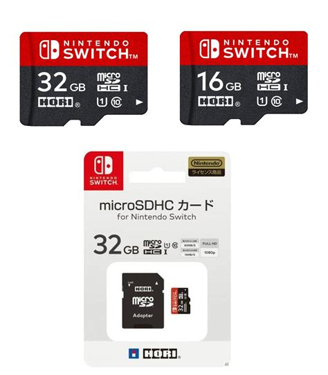 Hori Microsd Card For Nintendo Switch 32gb Hori Lanzar 225 Tarjetas Microsdhc Con El Logo De Nintendo Switch