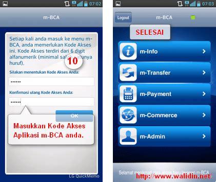 bca m banking cara daftar mobile banking bca m bca dan cara