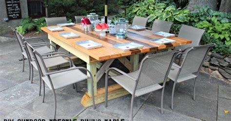 Outdoor Trestle Table by That S Letter Quot O Quot Is For Outdoor Trestle Dining Table
