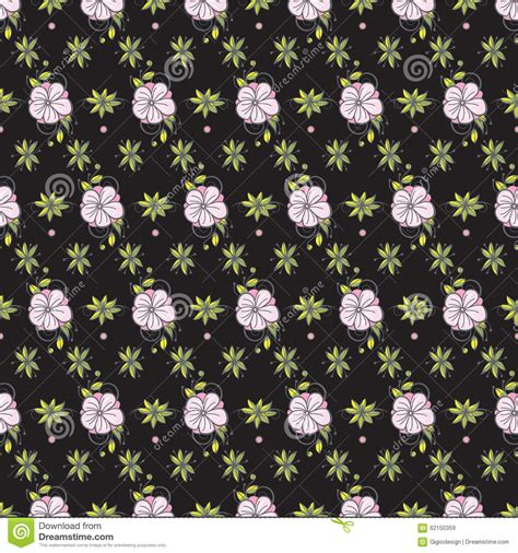 non pattern floral non seamless pattern background stock vector