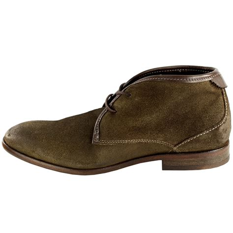mens h by hudson cruise suede lace up shoes smart ankle