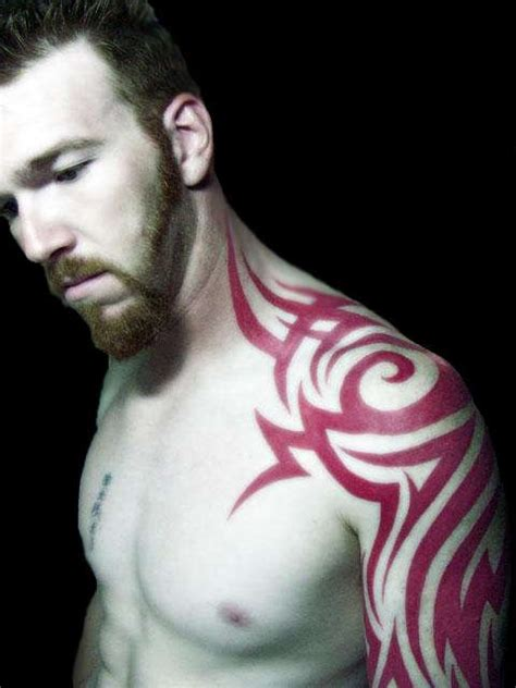 red tribal tattoos 1000 ideas about tribal shoulder tattoos on