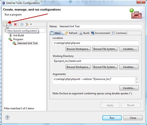 tutorial c unit test running automated tests from eclipse joomla documentation
