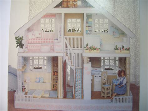 doll house pattern fashion doll house in plastic canvas pattern book by annen on etsy
