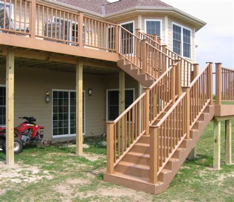 Outdoor Wood Stairs Deck Construction