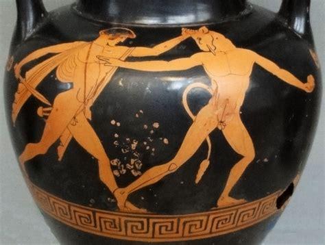 Long Neck Vases File Amphora With Theseus Slaying The Minotaur Jpg