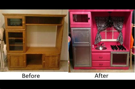 tv cabinet kids kitchen old tv cabinet turned in to upcycled chic kitchen for my