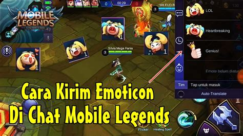 mengirim emoticon  chat mobile legends rumah