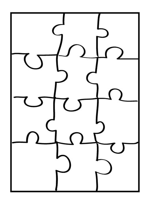 With Puzzle Piece Coloring Page Puzzle Coloring Page