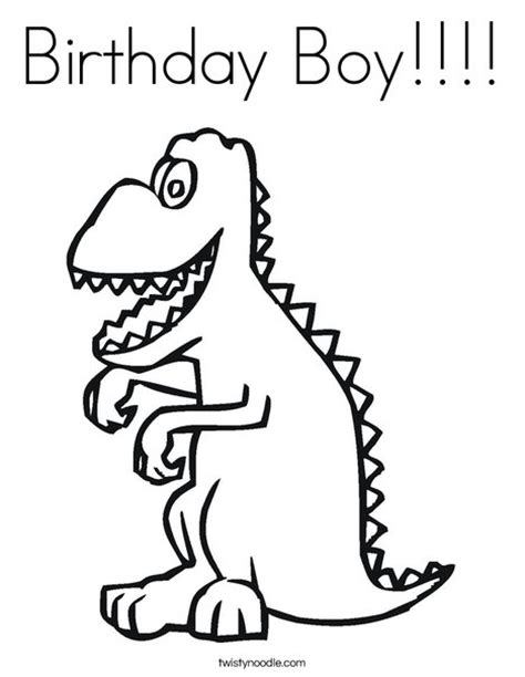 birthday dinosaur coloring page birthday boy coloring page twisty noodle