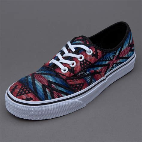 Sepatu Vans sepatu sneakers vans womens authentic moroccan geo black