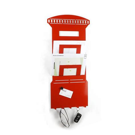 Letter Rack With Key Box postbox memo board letter and key rack by the metal house limited notonthehighstreet