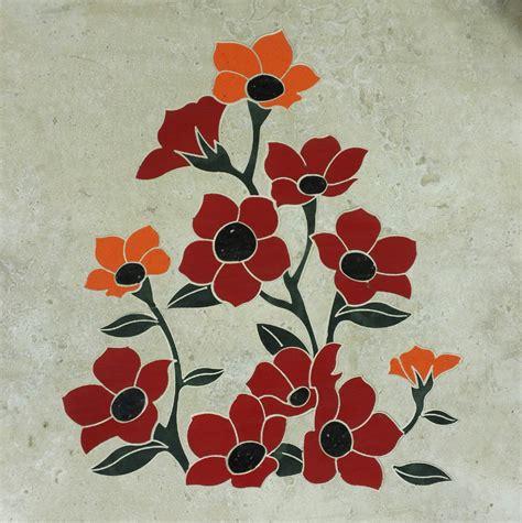 flower design tiles floral tile inlays dream weaver designs llc