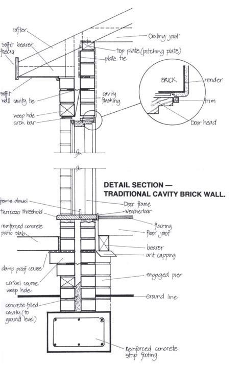 Brick Garage Construction Drawings - residential structures the basics arhitectura