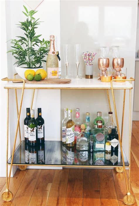 home bar decoration best 25 bar cart decor ideas on pinterest bar cart