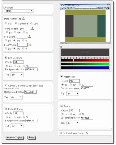 css layout builder css layout generator kurzygrafiky cz