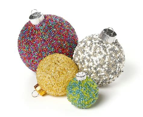 seed bead covered ornaments from patcatans com christmas