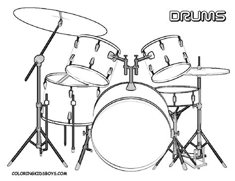 Drums Coloring Pages majestic musical drums coloring drums free snare