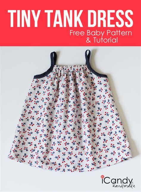 pattern sewing baby diy tiny tank dress free baby pattern tutorial