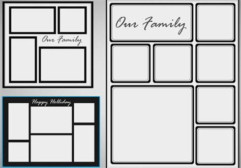 photo templates photo collage template vector set free vector