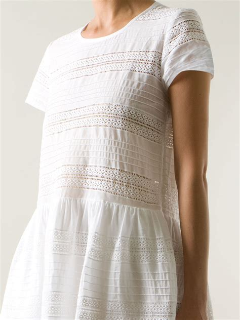 Broderie Dress lyst sea broderie anglaise shift dress in white