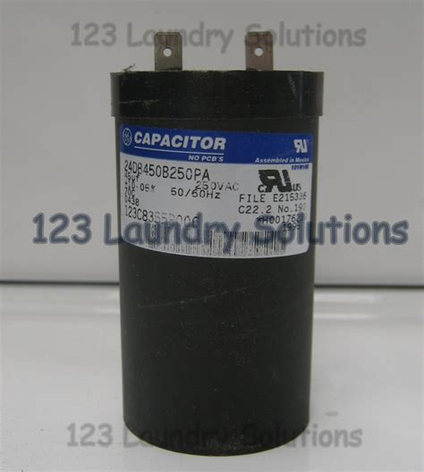 capacitor load ge top load washer motor capacitor 123c8355p006