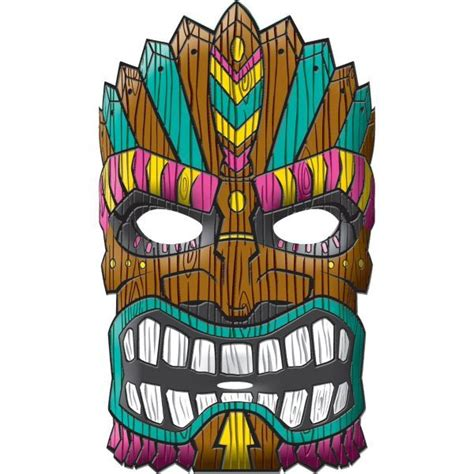 cartoon tiki mask related keywords cartoon tiki mask
