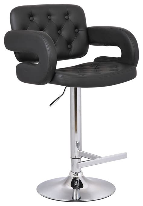 tufted bar stools with arms contemporary tufted adjustable swivel arm bar stool with