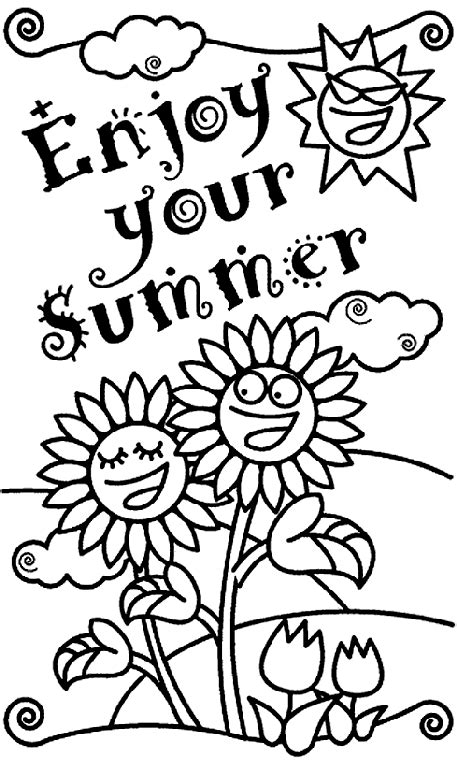 Summer Coloring Pages Crayola | enjoy your summer coloring page crayola com