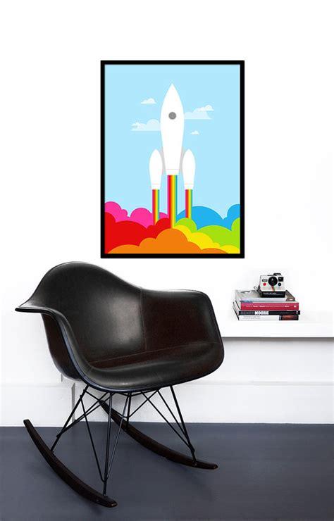 Poster Sports Switzerland Jumbo Size 50 X 70 Cm retro poster rainbow print space rocket mid century modern