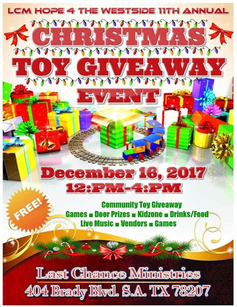 Christmas Toy Giveaway - 11th annual christmas toy giveaway community event last