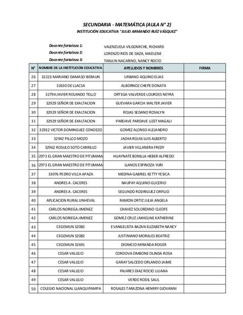 institucion educativa nancy rocio garcia distribuci 211 n de docentes del nivel secundario 193 rea