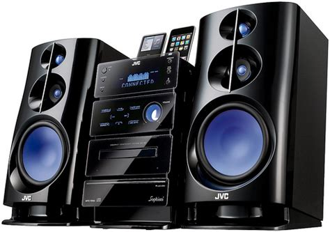 jvc nx d2 and ux f3 shelf stereo systems with dual ipod