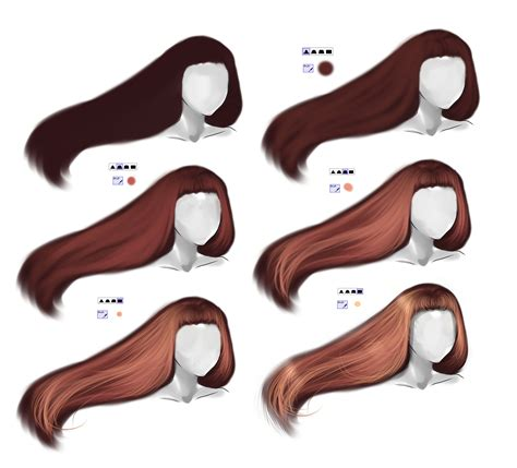 paint tool sai drawing hair hair tutorial by ryky on deviantart