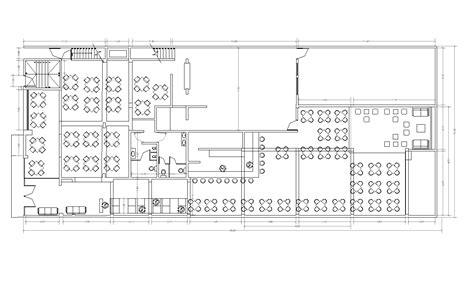 layout restaurant dwg restaurant design cad layout plan cadblocksfree cad