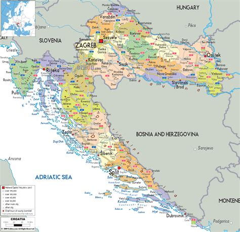 croatia map maps of croatia detailed map of croatia in english