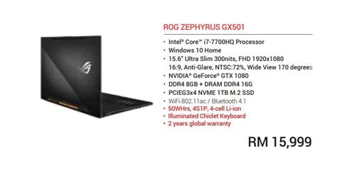 Laptop Asus Rog Di Malaysia teknologi asus zephyrus bakal dijual di malaysia