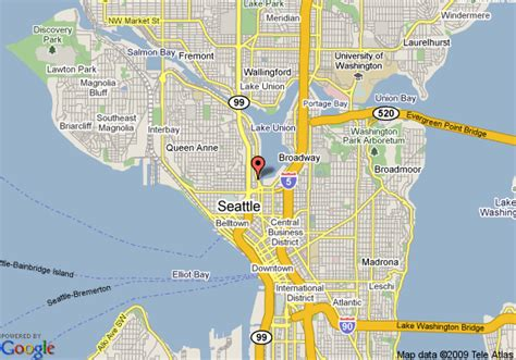 seattle map lake union map of courtyard by marriott seattle downtown lake union
