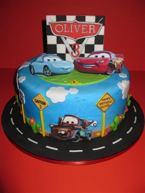 birthday cakes for you blue cake with decoration car