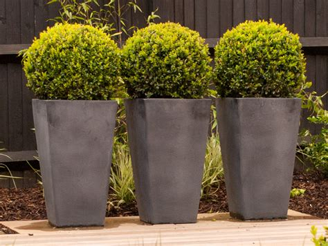 Gray Outdoor Planters From The Drawing Board Pictures From My Sutton Project 3