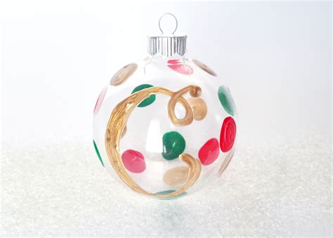 polka dot monogram christmas ornaments ilovetocreate