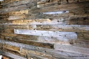 recycled wood reclaimed wood wall the weekend country girl