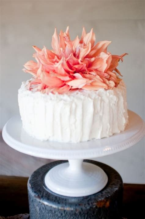 top  unique single tier flower wedding cakes cheap