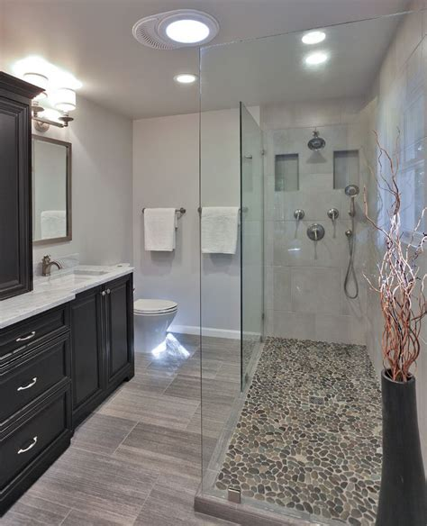 rock flooring bathroom 17 best ideas about pebble shower floor on pinterest