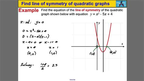 Find Line Equation To Find The Axis Of Symmetry Jennarocca