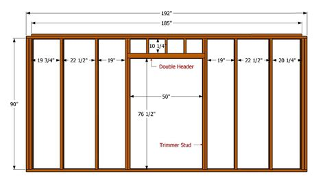 Framing Interior Doors How To Frame An Interior Wall With A Door Opening 4 Photos 1bestdoor Org